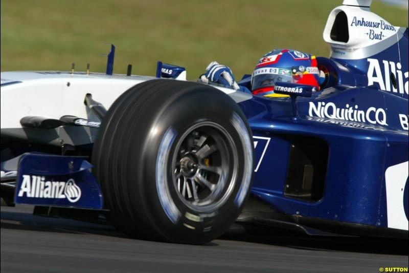 Juan Pablo Montoya, Williams. German Grand Prix, Hockenheim, Germany. Saturday, August 2nd 2003.