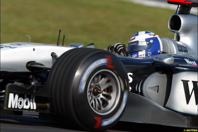 David Coulthard, McLaren. German Grand Prix, Hockenheim, Germany. Saturday, August 2nd 2003.