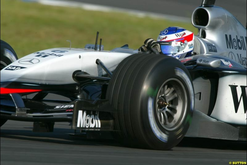 Kimi Raikkonen, McLaren. German Grand Prix, Hockenheim, Germany. Saturday, August 2nd 2003.