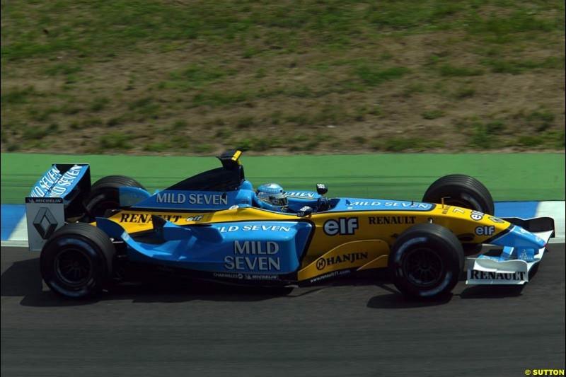 Renault. German Grand Prix, Hockenheim, Germany. Saturday, August 2nd 2003.