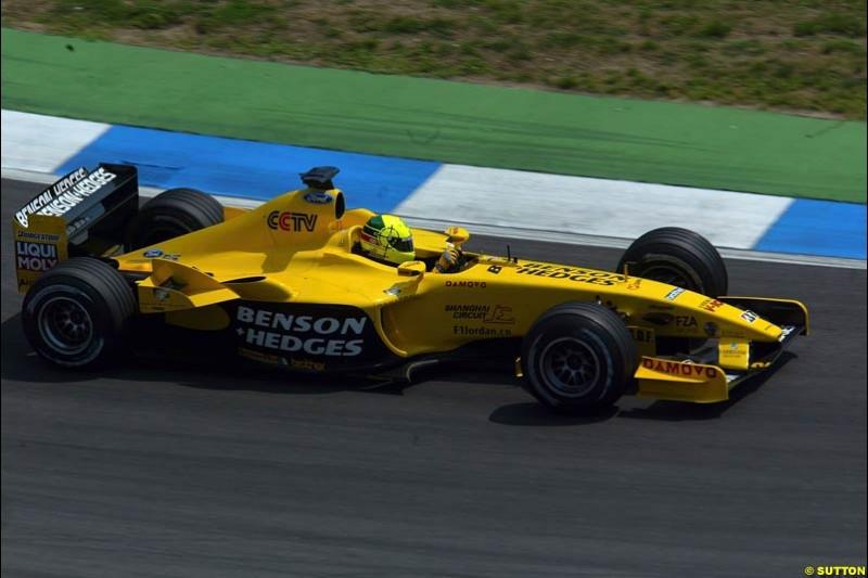 Ralph Firman Jnr. German Grand Prix, Hockenheim, Germany. Saturday, August 2nd 2003.