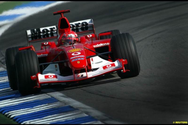 German Grand Prix, Hockenheim, Germany. Saturday, August 2nd 2003.