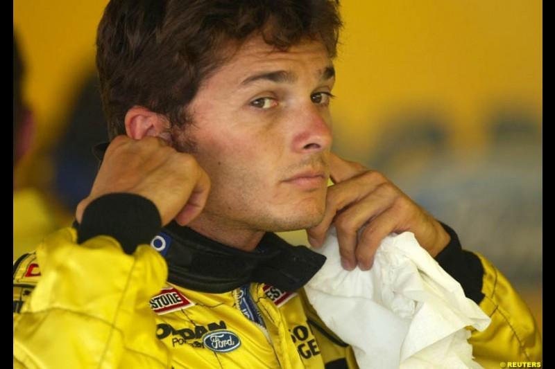 Giancarlo Fisichella, Jordan. German Grand Prix, Hockenheim, Germany. Saturday, August 2nd 2003.