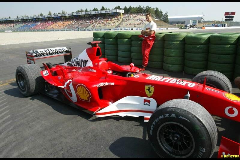 Michael Schumacher, Ferrari. German Grand Prix, Hockenheim, Germany. Saturday, August 2nd 2003.