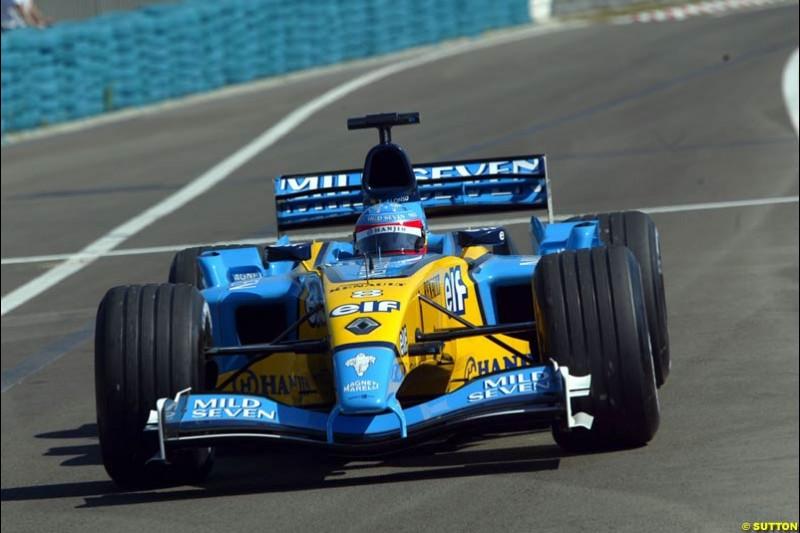Renault. Hungarian Grand Prix Saturday. Hungaroring, Budapest. 23rd August, 2003.