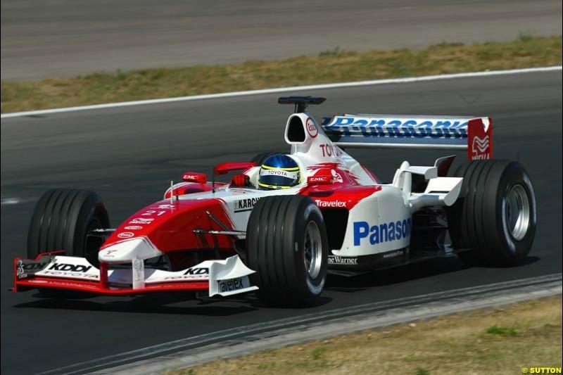 Toyota. Hungarian Grand Prix Saturday. Hungaroring, Budapest. 23rd August, 2003.