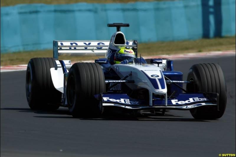 Ralf Schumacher, Williams. Hungarian Grand Prix Saturday. Hungaroring, Budapest. 23rd August, 2003.