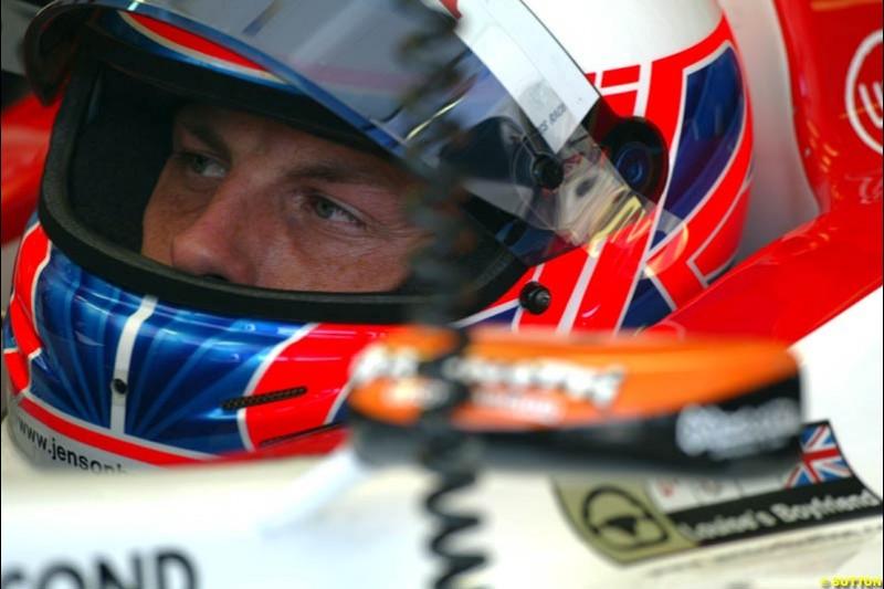 Jenson Button, BAR. Hungarian Grand Prix Saturday. Hungaroring, Budapest. 23rd August, 2003.
