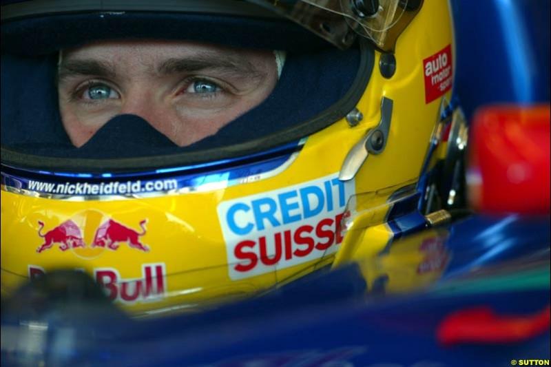 Nick Heidfeld, Sauber. Hungarian Grand Prix Saturday. Hungaroring, Budapest. 23rd August, 2003.