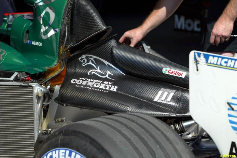 Jaguar. Hungarian Grand Prix Saturday. Hungaroring, Budapest. 23rd August, 2003.
