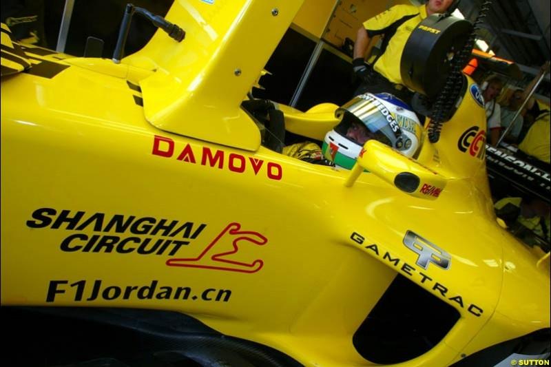 Giancarlo Fisichella, Jordan. Hungarian Grand Prix Saturday. Hungaroring, Budapest. 23rd August, 2003.