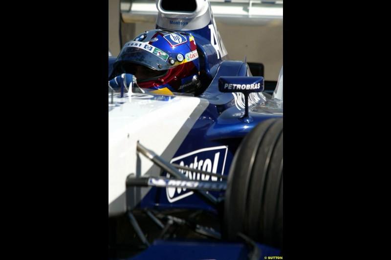 Juan Pablo Montoya. Hungarian Grand Prix Saturday. Hungaroring, Budapest. 23rd August, 2003.