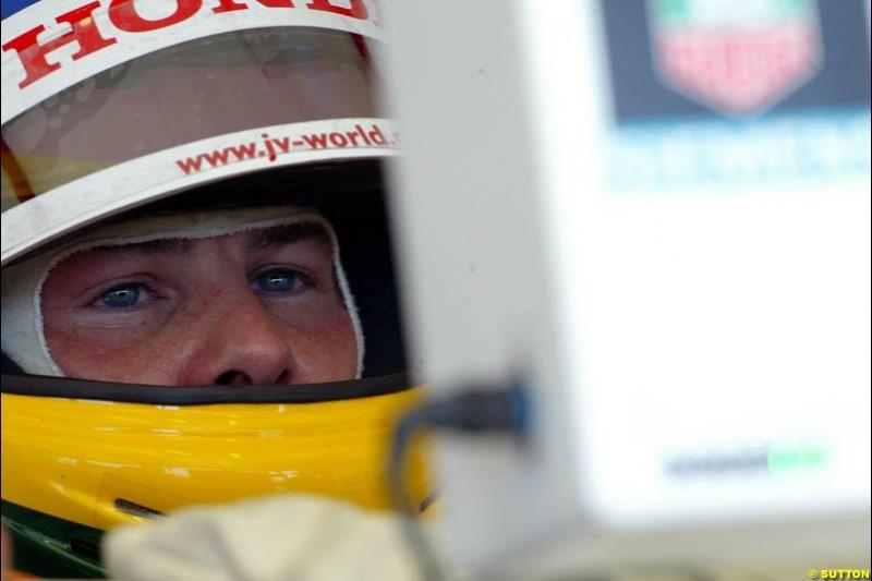 Jacques Villeneuve, BAR. Hungarian Grand Prix Saturday. Hungaroring, Budapest. 23rd August, 2003.