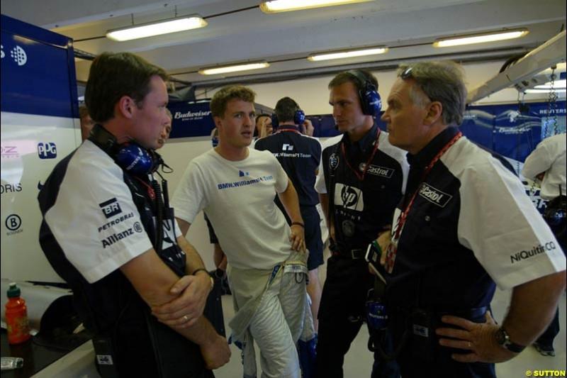Williams. Hungarian Grand Prix Saturday. Hungaroring, Budapest. 23rd August, 2003.
