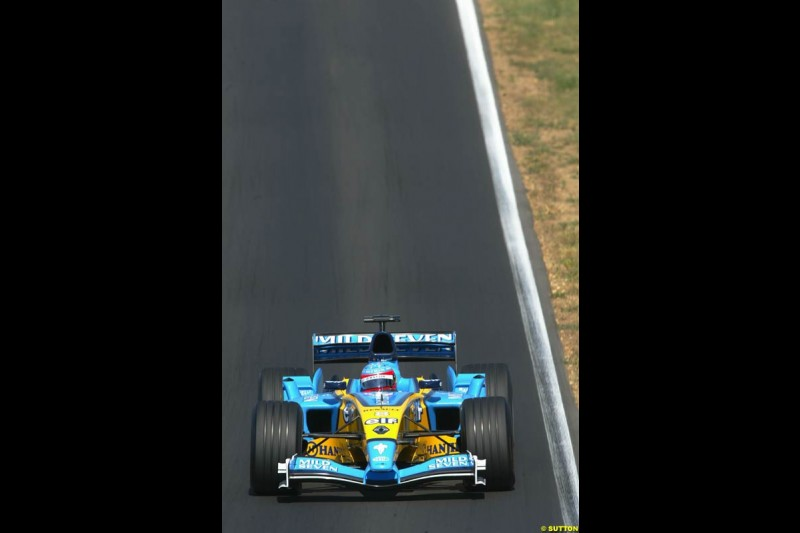 Fernando Alonso, Renault. Hungarian Grand Prix Sunday. Hungaroring, Budapest. 24th August, 2003.