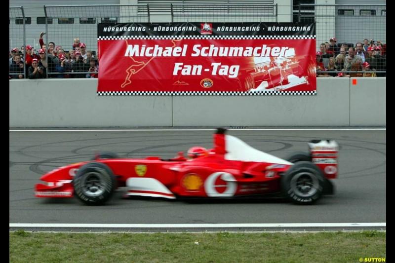 Michael Schumacher Fan Day, Nurburgring, Germany. 7 September 2003.