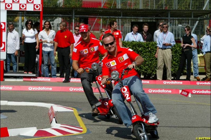 Ferrari scooter event. Italian Grand Prix Friday, Monza, Italy. 12 September 2003.