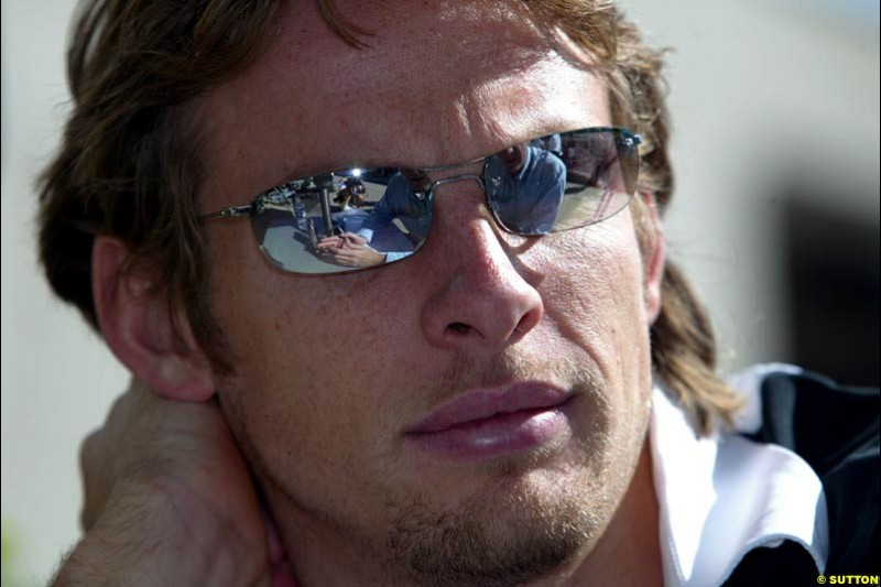 Jenson Button. United States GP, Indianapolis Motor Speeway. Thursday, September 25th 2003.