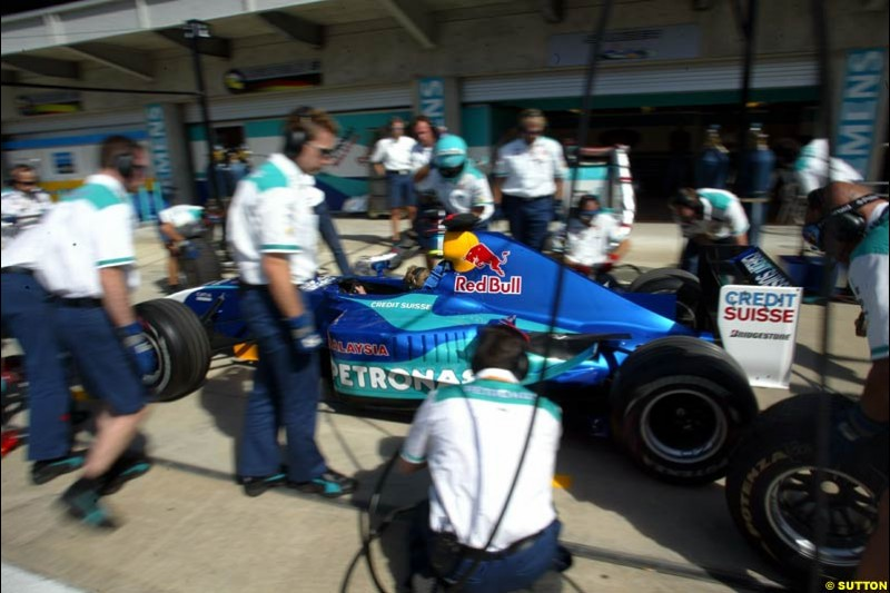 Sauber. United States GP, Indianapolis Motor Speeway. Thursday, September 25th 2003.