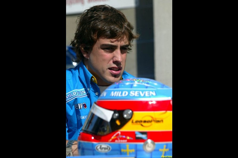 Fernando Alonso. United States GP, Indianapolis Motor Speeway. Thursday, September 25th 2003.