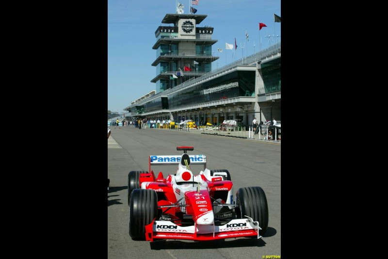 Toyota. United States GP, Indianapolis Motor Speeway. Thursday, September 25th 2003.