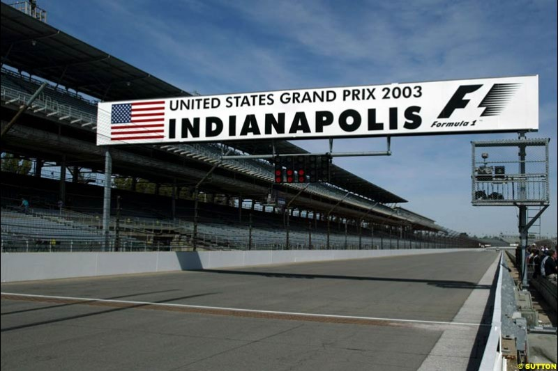 United States GP, Indianapolis Motor Speeway. Thursday, September 25th 2003.