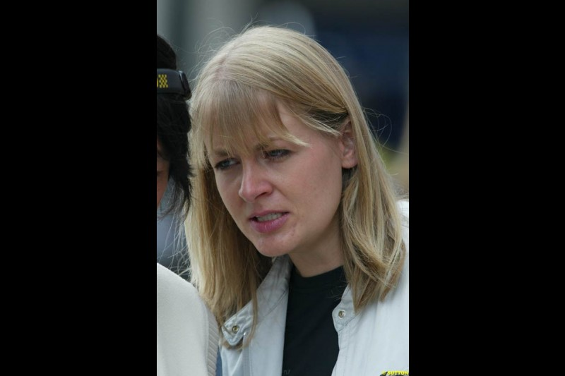 McLaren press officier, Ellen Kolby. Japanese Grand Prix, Suzuka, Japan. Saturday, October 11th 2003.