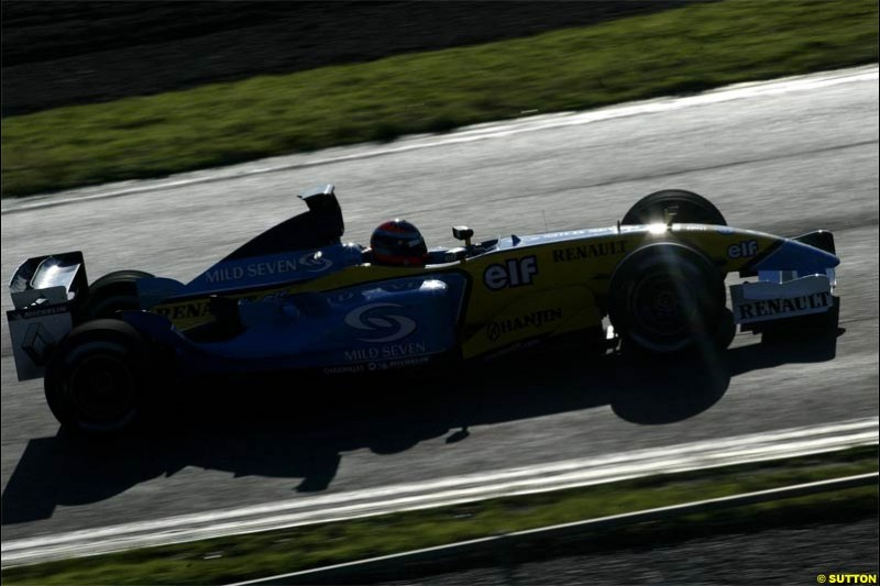 Winter F1 Testing, December 4th, 2003, Barcelona, Spain.
