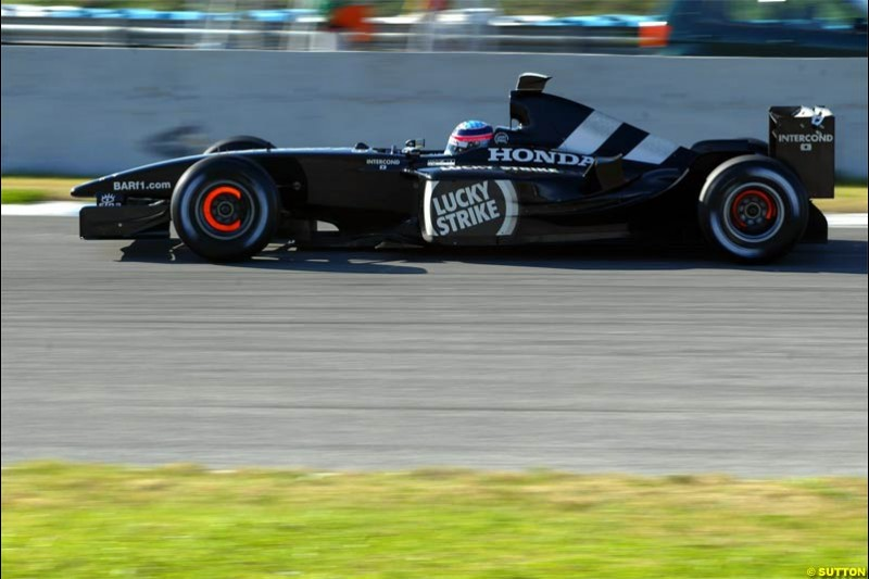 Winter F1 Testing, December 3rd, 2003, Jerez, Spain.
