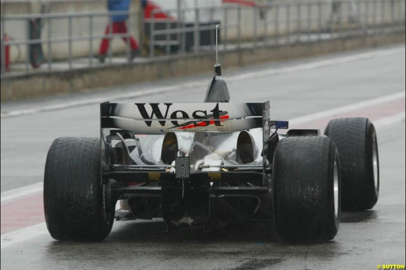 Winter F1 Testing, December 3rd, 2003, Barcelona, Spain.