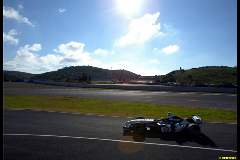 Winter F1 Testing, December 2nd, 2003, Jerez, Spain.