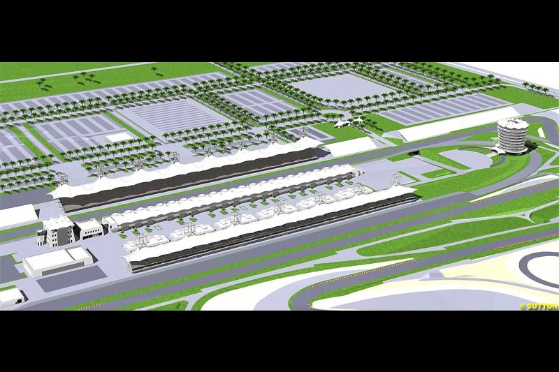 Computer simulation of the new Bahrain venue and track. December 2003