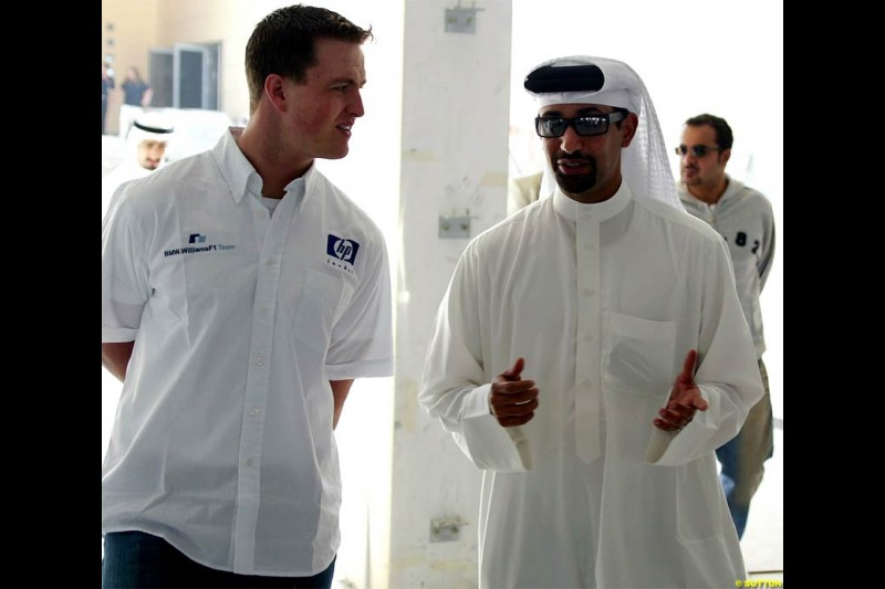 Ralf Schumacher visits Bahrain. December 2003.