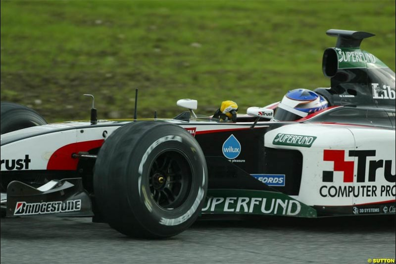 Minardi testing at Vallelunga, Italy. December 11th 2003.