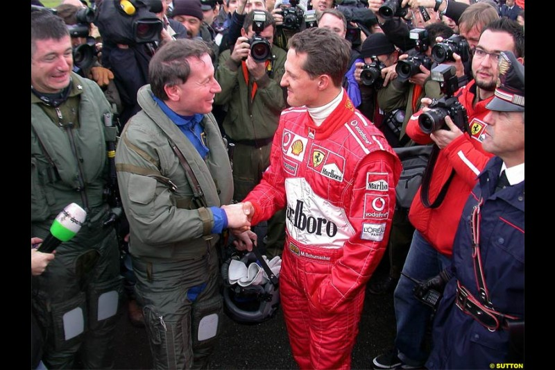 Michael Schumacher Versus Eurofighter, Italy, Thursday 11 December 2003.