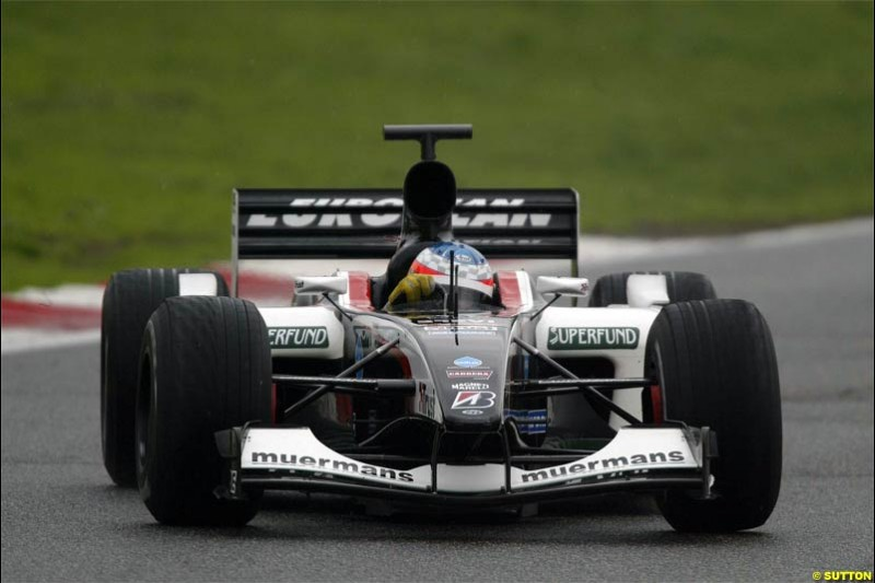 Minardi testing at Vallelunga, Italy. December 10th 2003.