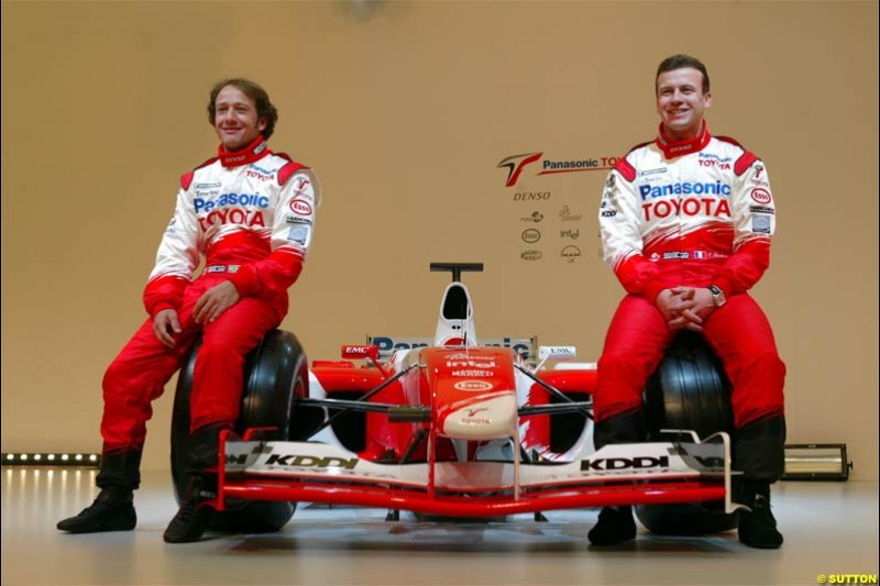 Toyota Racing TF104 Launch at Cologne, Germany. January 17th, 2004.