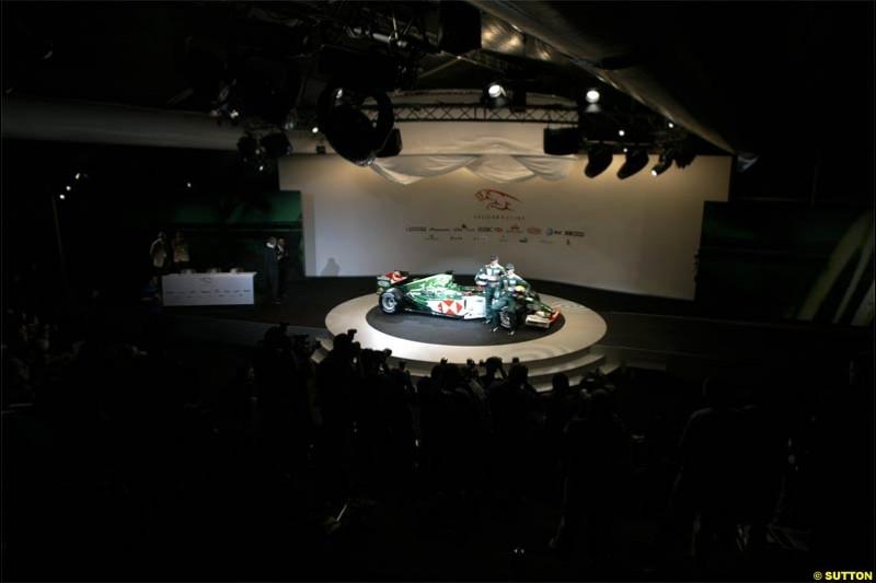 Jaguar Cosworth R5 Launch at Barcelona, Spain. January 18th, 2004.