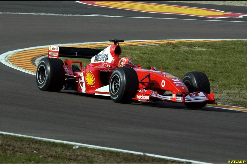 Michael Schumacher, Ferrari, testing the F2004. Fiorano, Italy. January 31st 2004.