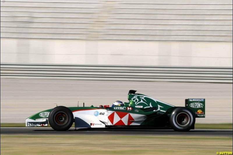 Christian Klien, Jaguar. F1 testing at Valencia, Spain. January 29th 2004.