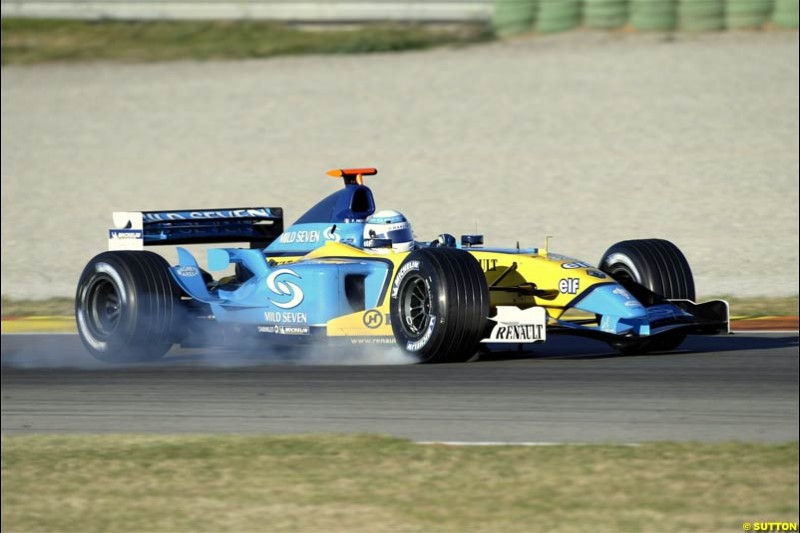 Franck Montagny, Renault. F1 Testing at Valencia, Spain. January 28th 2004.