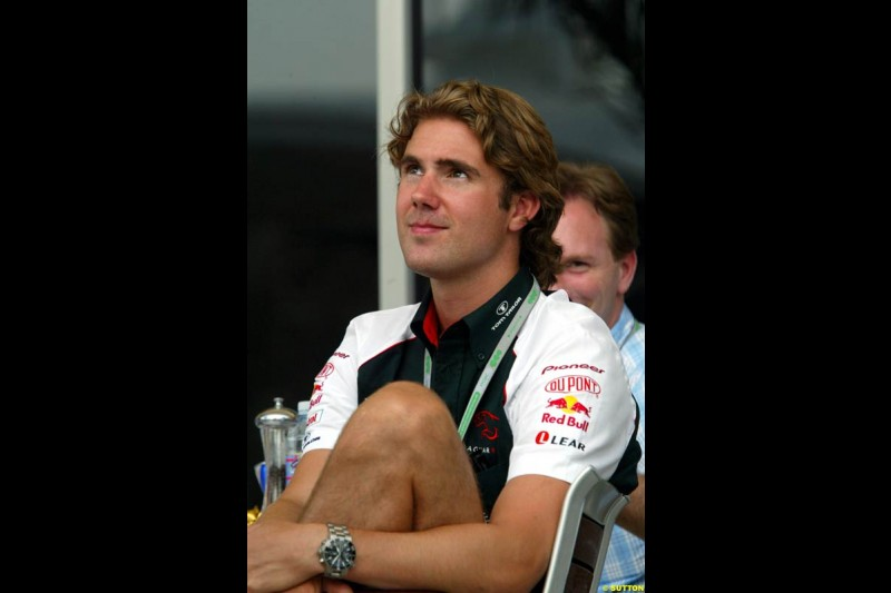 Bjorn Wirdheim, Jaguar, at the Bahrain Grand Prix, Bahrain International Circuit. April 1st, 2004.