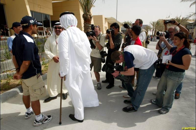 Juan Pablo Montoya, Williams. Bahrain Grand Prix, Bahrain International Circuit. April 1st, 2004.
