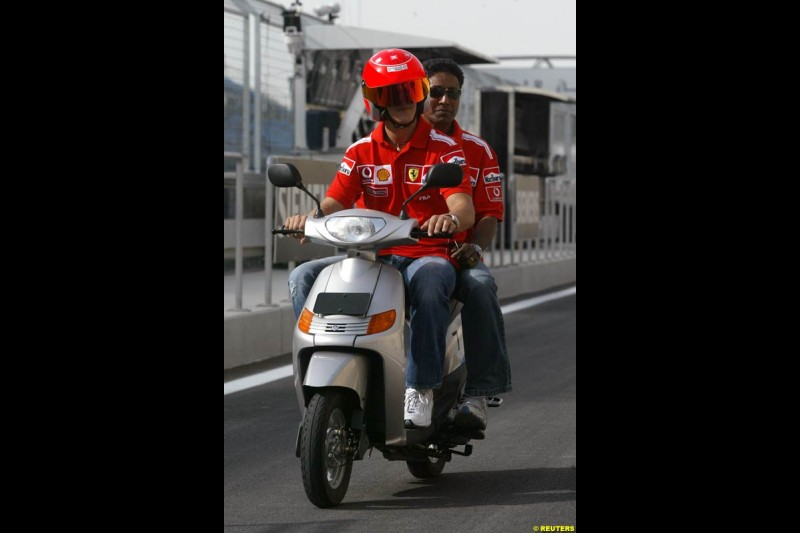 Michael Schumacher, Ferrari. Bahrain Grand Prix, Bahrain International Circuit. April 1st, 2004.