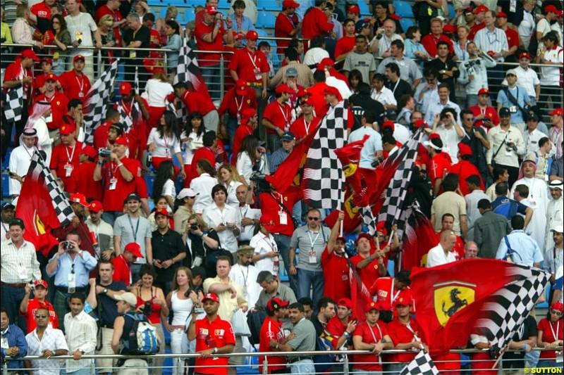 The crowd. The Bahrain Grand Prix. Bahrain International Circuit, April 4th 2004.