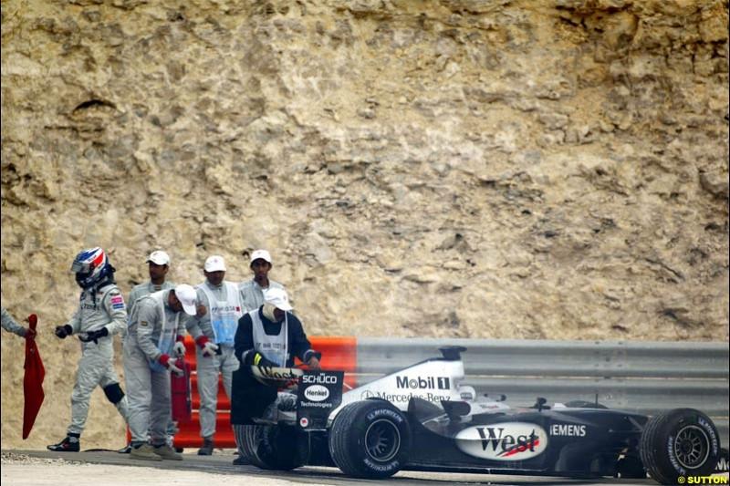Kimi Raikkonen, McLaren. The Bahrain Grand Prix. Bahrain International Circuit, April 4th 2004.