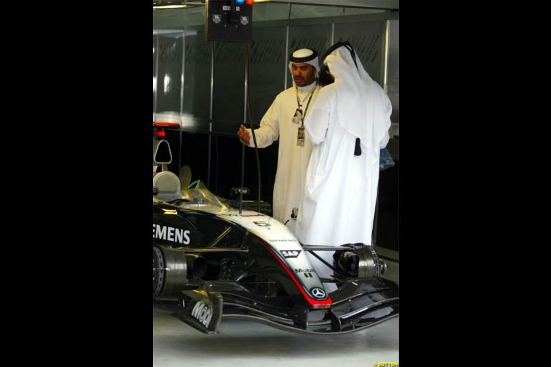 McLaren. The Bahrain Grand Prix. Bahrain International Circuit, April 4th 2004.