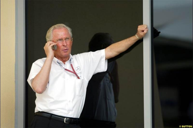 Jorgen Hubbert, Damlier Chrysler. The Bahrain Grand Prix. Bahrain International Circuit, April 4th 2004.