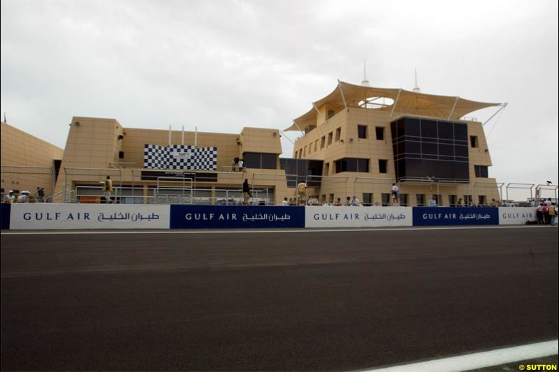 Clowds. The Bahrain Grand Prix. Bahrain International Circuit, April 4th 2004.