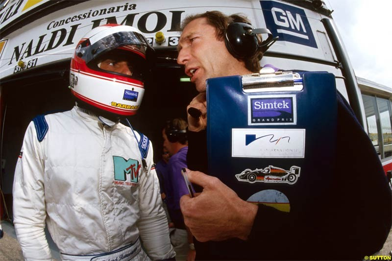 Remembering Roland Ratzenberger. Tragically killed during Qualifying for the San Marino Grand Prix, Imola, 1994. Photos part of the Keith Sutton Ratzenberger Collection.